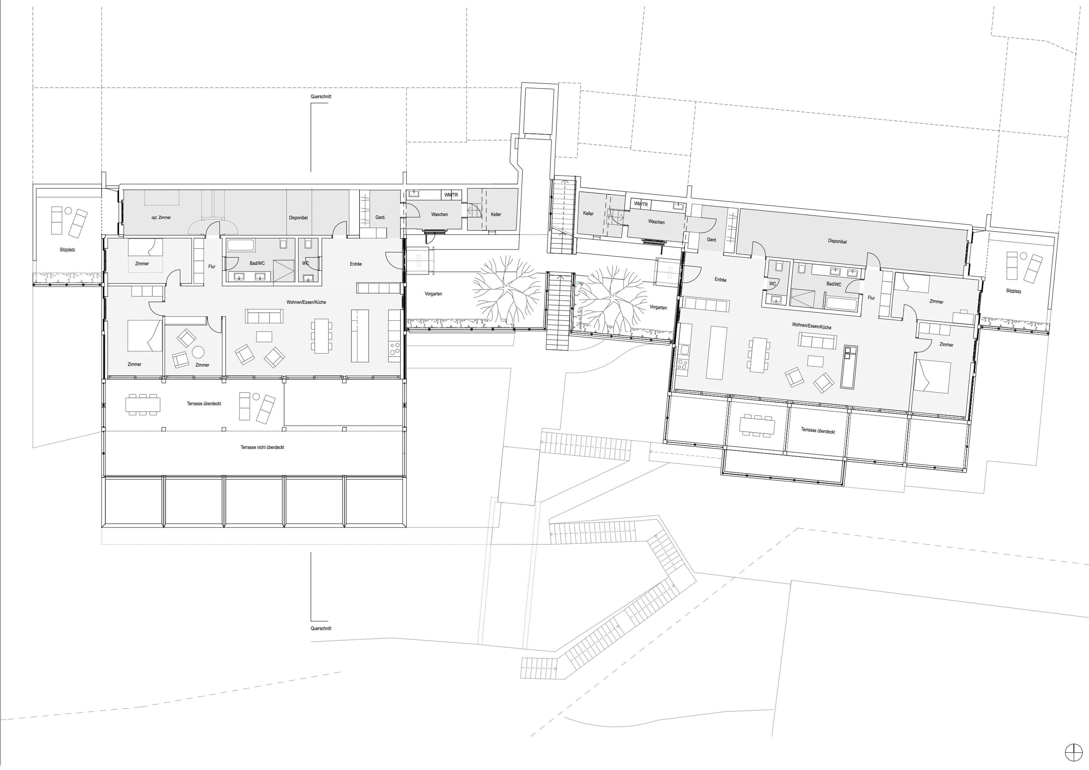 Terrassenhäuser Schillerrain, Eggenspieler Architekten AG