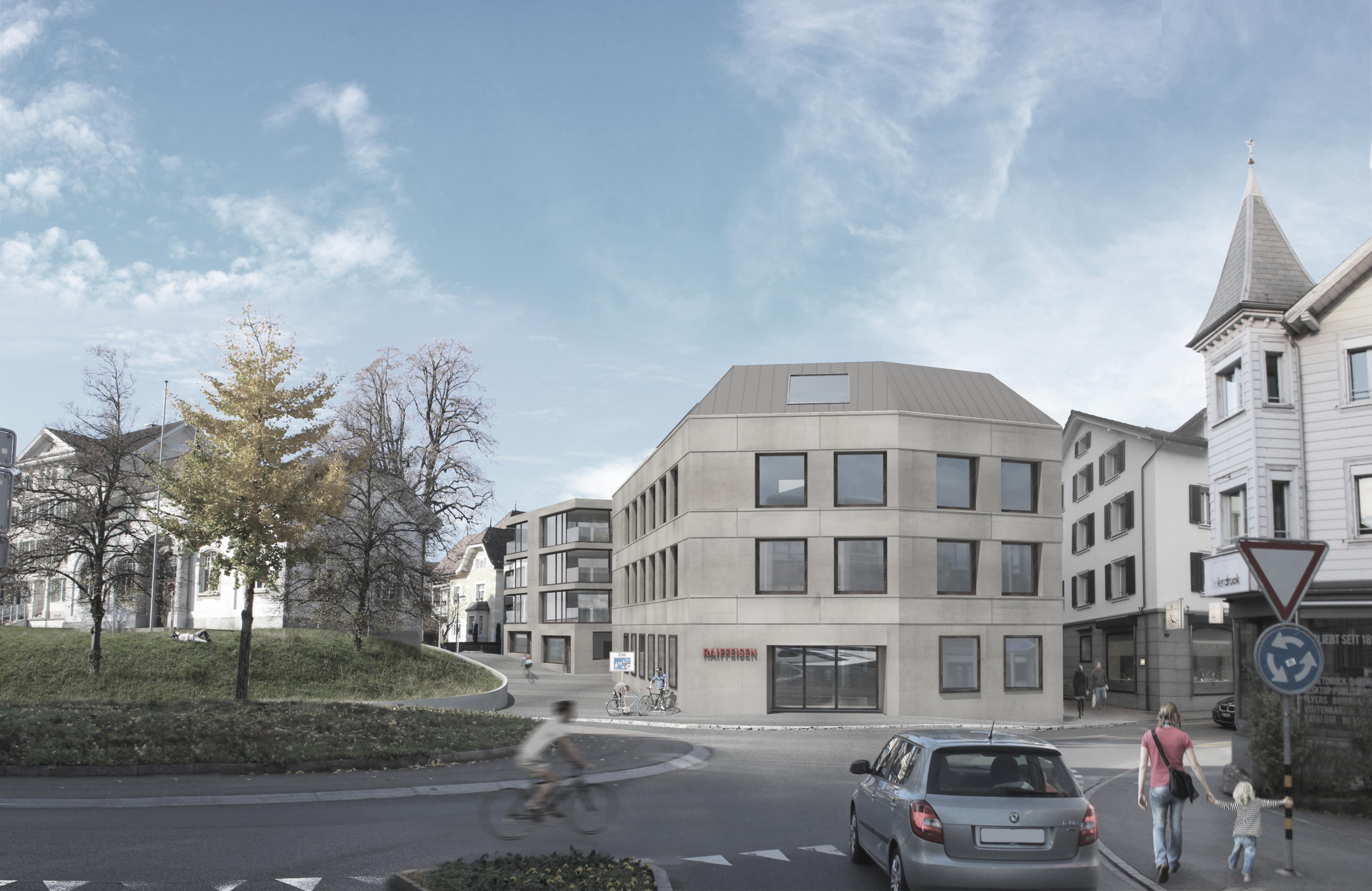 Raffeisenbank Cham, Eggenspieler Architekten AG