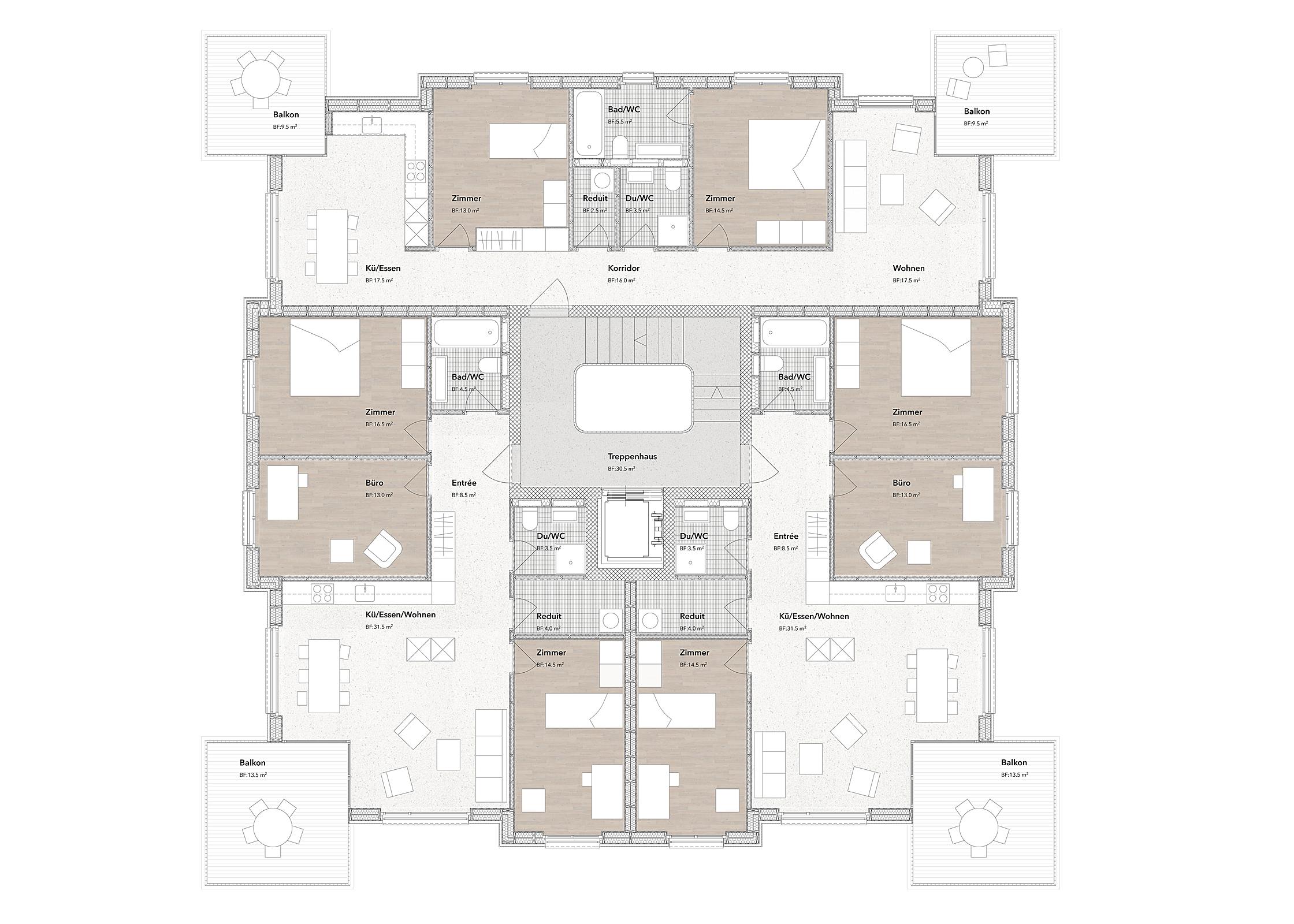 Areal Bosmatt Kriens, Eggenspieler Architekten AG